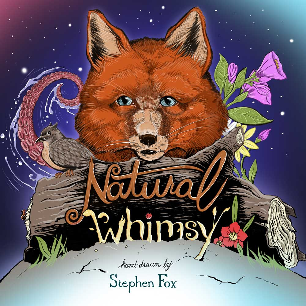 Natural Whimsy: A Hand-drawn Coloring Book by Stephen Fox