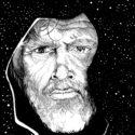 "Luke Skywalker from ""Star Wars: The Force Awakens"" - illustrated by Stephen Fox"